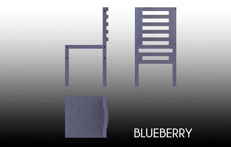 Technical drawing of the Blueberry chair