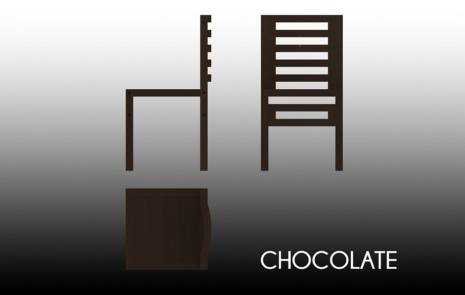 Technical drawing of the Chocolate chair