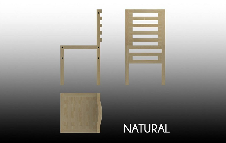 Technical drawing of the Natural chair