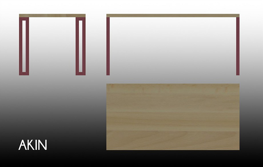 Technical drawing of the Akin table