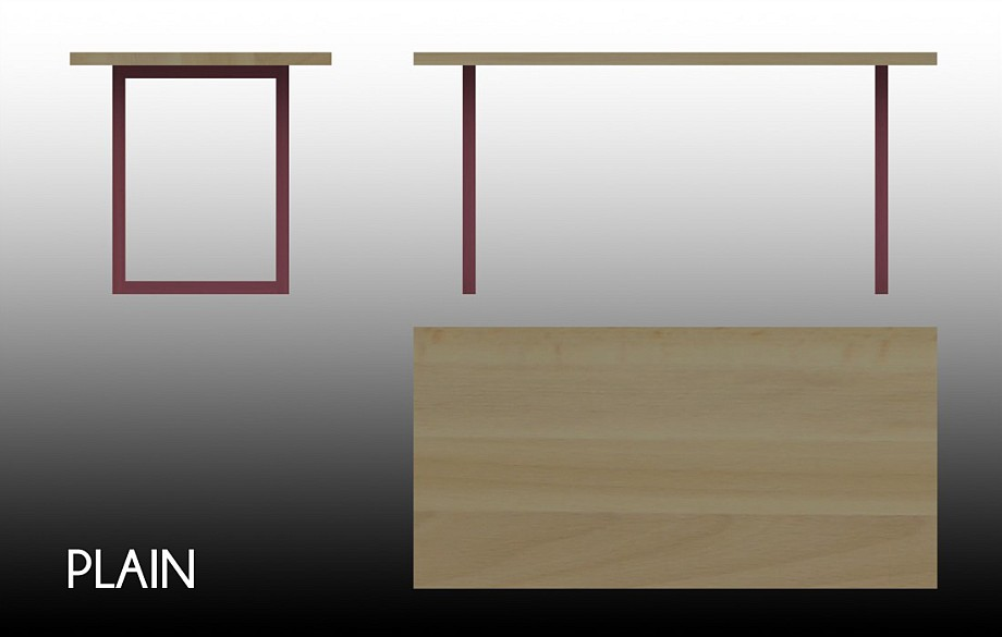 Technical drawing of the Plain table